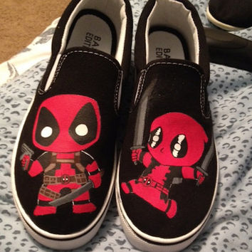 Chibi Deadpool Custom Shoes