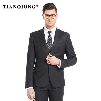 TIAN QIONG 2018 Talior Made Black Groom Tuxedos For Wedding 2 Pieces Mens Prom Party Suits Best Man Suit Casual Blazer Terno
