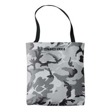 Personalized GS Camouflage Tote Bag