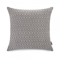 ICON™ Rhombi Knit Cushion, Charcoal & White