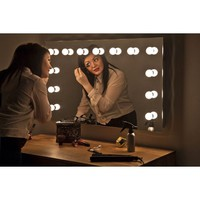 Diamond X Wallmount Hollywood Vanity Mirror with Dimmable LED k91LED - Walmart.com