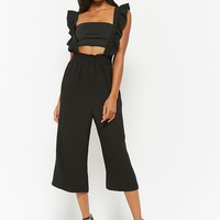 London Rose Ruffle Culotte Jumpsuit