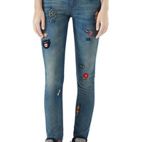 Gucci Patch Embellished Skinny Jeans | Nordstrom