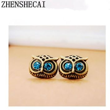 New Classic Fashion owl Animal brincos Jewelry Cute Stud Earrings For Women Girls --Special discount