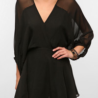Urban Outfitters - Smith Balloon-Sleeve Silk Chiffon Dress