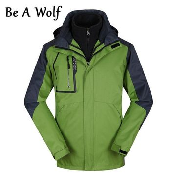 Be A Wolf Winter Heated Hiking Jackets Men Women Waterproof Outdoor Fishing Clothing Camping Skiing Rain Jacket Windbreaker 819