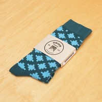 Socks in Visionary Blue Green