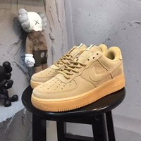 nixwu 100% original Size:36-44 Nike Air Force 1 Wheat GS low AF1 Leather Classics