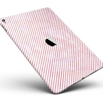 """The Pink Slanted Lines Pattern Full Body Skin for the iPad Pro (12.9"""" or 9.7"""" available)"""