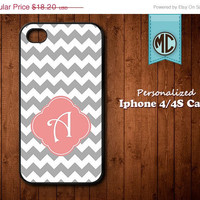 20% OFF SALE Personalized iPhone 4 Case - Plastic iPhone case - Rubber Silicone iPhone case - Monogram iPhone case - iPhone 4s case - MC078