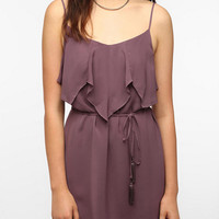 Ecote Ruffled Tie-Front Dress