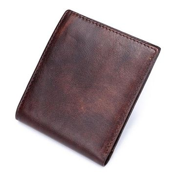 mens retro handmade genuine leather wallet card hold purse 03 2