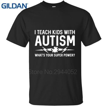 summer jersey black men's Autism Support Teacher Autistic Spectrum Unisex More Size And Colors tee shirt cotton Hipster
