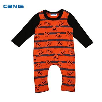 Newborn Infant Toddler Kids Baby Boys Girls Halloween Costume Pumpkin Cotton Romper Outfits Clothes 0-24M