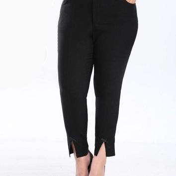 khloe black Plus Size skinny Pants Trousers Female Clothing