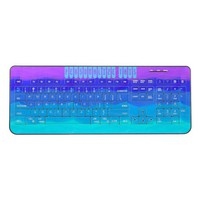 Sea illusion blue purple custom wireless keyboard