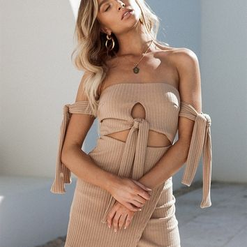 Seline Ribbed Dress - Dresses by Sabo Skirt