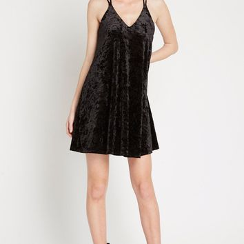 At Last Crushed Velvet Swing Dress