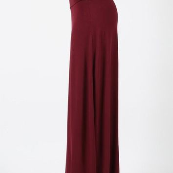 Dark Burgundy Maxi Skirt