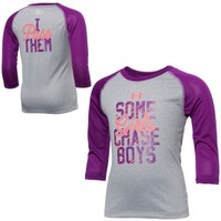 Under Armour Little Girls' Some Girls Chase Boys Three-Quarter Sleeve Graphic Shirt