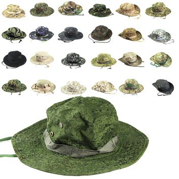 Multiple Styles Men Women Unisex Outdoor Hiking Cap Hunting Hat Military Cap Outdoor Wide Bucket Hats
