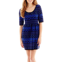 jcpenney | Take Out 3/4-Sleeve Sweater Skater Dress