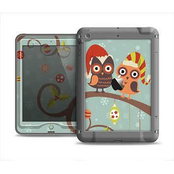 The Retro Christmas Owls with Ornaments Apple iPad Air LifeProof Nuud Case Skin Set