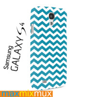 Chevron Background Blue  Samsung Galaxy Series Full Wrap Cases