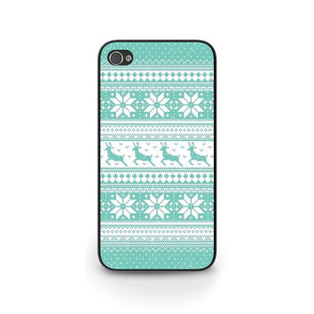Aztec Christmas Phone Case, Blue iPhone 5 Case, iPhone Cases, Holiday, Merry Christmas, Cell Phone Case, Gift idea- X027