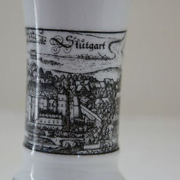 Rare STUTTGART VASE White & Black Collectible