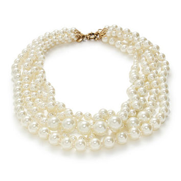 J.Crew Womens Pearl Twisted Hammock Necklace