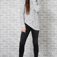 All Nations Uneven Hem Knit Sweater