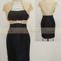 Freeshipping E62260 champagne Black Two Piece Cap Sleeve Tea Length Tall mother of the bride dress, View two piece mother of the bride dresses, Choiyes Wedding Dress Product Details from Chaozhou Choiyes Evening Dress Co., Ltd. on Alibaba.com