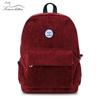 Retro Backpack For Women Girl School Bag