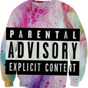 Multicolored Parental Advisory Sweatshirt