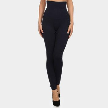 High Waist French Terry Lining Compression Leggings (Click For More Colors)