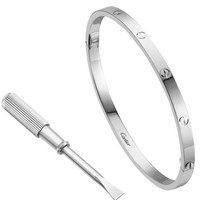 Authentic Cartier Love Small Edition Bracelet White Gold Size 16