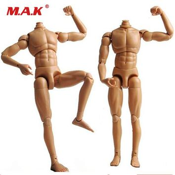 "dragon neo-3 1:6 scale nude male body figure developed chest muscle man soldier model accessory for 12"" action figure doll toys"