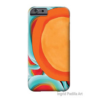 NEW-- iPhone 6 Case, iPhone 6 Plus Case, iPhone 5 Case, Sunny, Funky, Art on iPhone cases, by Ingrid, iPhone 5S case, iPhone6