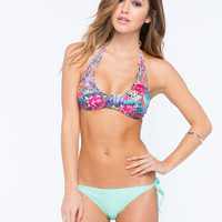 Full Tilt Tie Side Bikini Bottoms Mint  In Sizes