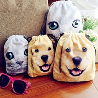 Love Pet Face Storage Bag