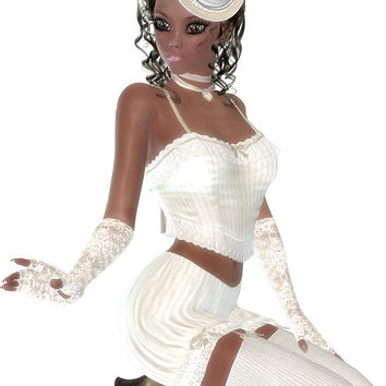 African American Woman . Steampunk Art by exoticlove