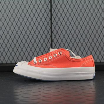 Converse Jack Purcell Fashion Canvas Flats Sneakers Sport Shoes Orange