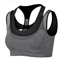 VEAMORS 2017 Absorb Sweat Quick Drying Running Vest Shockproof Sports Bra ,Yoga Fitness Vest Workout Tank Top Seamless Underwear