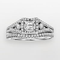 Cherish Always Princess-Cut Diamond Engagement Ring Set in 14k White Gold (1 ct. T.W.) (Yellow)