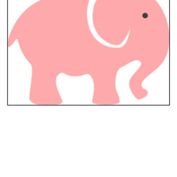 Instant Download, Elephant, Baby Room Decor, Cross Stitch, PDF Pattern, Cross Stitch Pattern, Pink Elephant