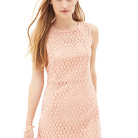 FOREVER 21 Crocheted Sweetheart Dress Dusty Pink