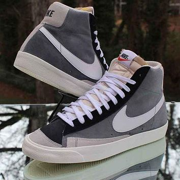 Nike Blazer Mid High Top Men's and Women's Flat Casual Wild Sneakers Shoes
