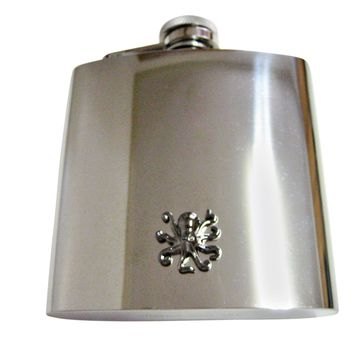 Gunmetal Toned Octopus 6 Oz. Stainless Steel Flask