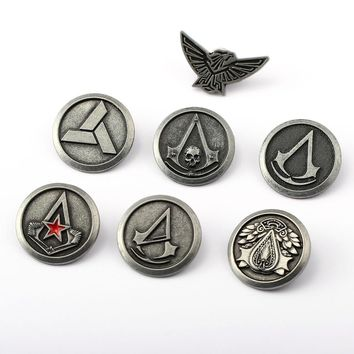 Assassin's Creed Brooch Assassins Creed Pins Broches Brooches For Women Men Jewelry Game Lapel Pin Gift YS11761